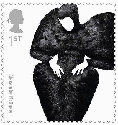 Great British Fashion Stamps – Alexander McQueen