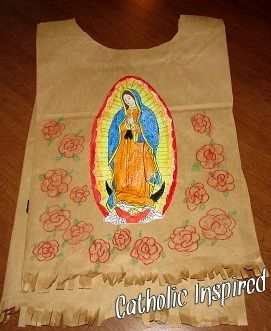 Juan Diego's Paper Tilma for Kids | Catholic Inspired ~ Arts, Crafts, and Activities!