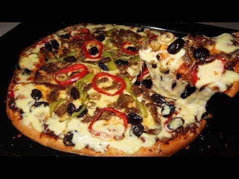 اسهل طريقة لعمل بيتزا احترافية مثل الجاهزة Food Vegetable Pizza Vegetables