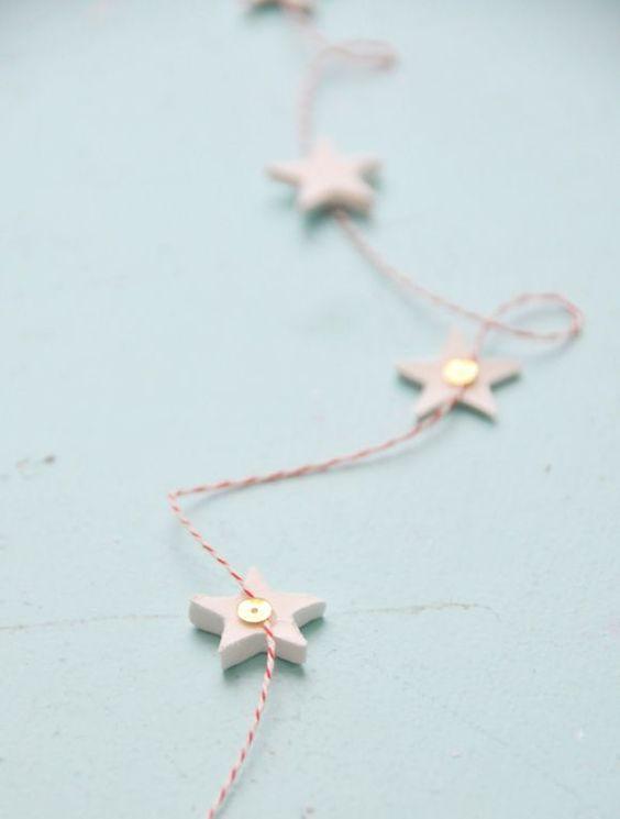 Our very own Scandinavian-inspired star Christmas garland tutorial.