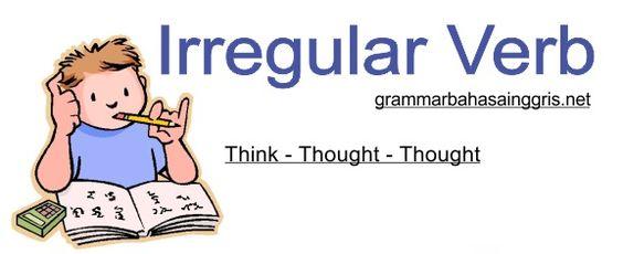 Irregular Verb List dan Contoh Kalimatnya grammar Pinterest - verb list