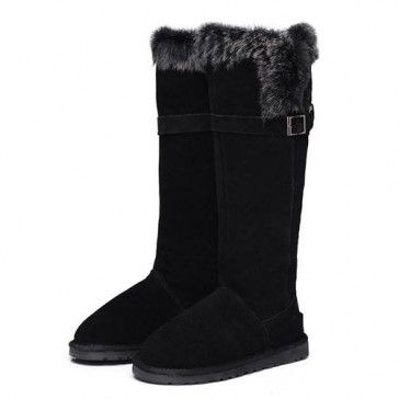Ugg Women Fox Fur Tall 1852 Black