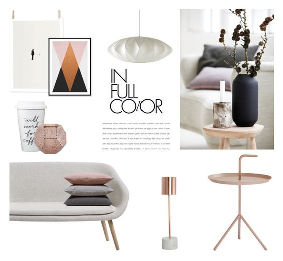 """""""In Full Color"""" by nmkratz ❤ liked on Polyvore featuring interior, interiors, interior design, home, home decor, interior decorating, Herman Miller, Hawkins, HAY and House Doctor"""