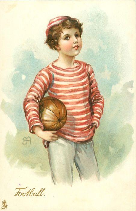 Ellen Jessie Andrews - English (1857-1907) - vintage postcard 1912 - Football