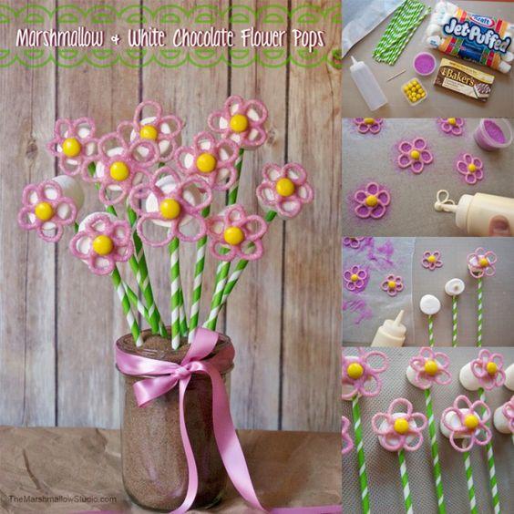 Melcocha y la flor blanca del chocolate Pops por TheMarshmallowStudio_stepout