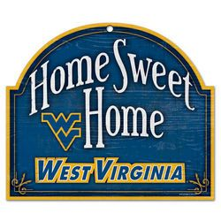 West Virginia University Wood Arched Sign 10x11