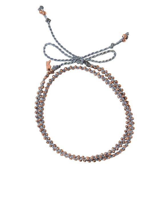 blue double wrap bracelet {The Little Market}