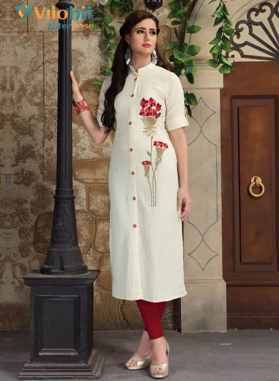 Specification :NAME :Payal Vol-2TOTAL DESIGN :7PER PIECE RATE :625/-FULL CATALOG RATE :4375/-+(5%GST) + Shipping ChargeWEIGHT :3SIZE :XXLType :Embroidery KurtisMOQ :Minimum 7 Pcs.Fabric Description :Heavy Rayon Flex | Length -47-48