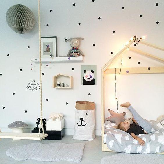 Columpio en el cuarto - Ideas Decoración habitaciones infantiles y bebe en blanco,  #bebe #ideas #decoracion