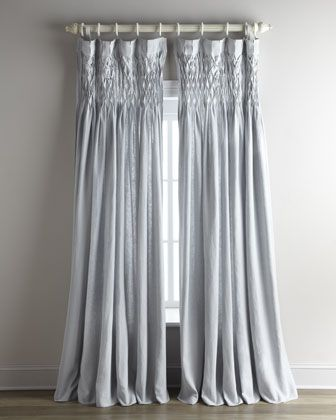 Smocked Linen Curtain By Pom Pom At Home At Neiman Marcus Pom Pom At Home Pom Pom Interiors