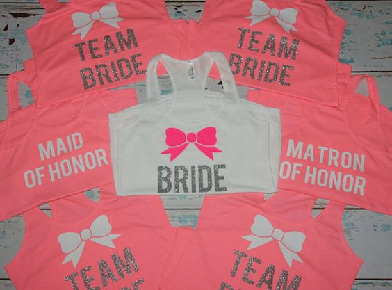 Bridesmaids Tanks 6. Bridesmaids Shirts. by BrideAndEntourage