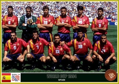 Fan Pictures 1994 Fifa World Cup United States Spain Team World Cup Fifa World Cup Spain