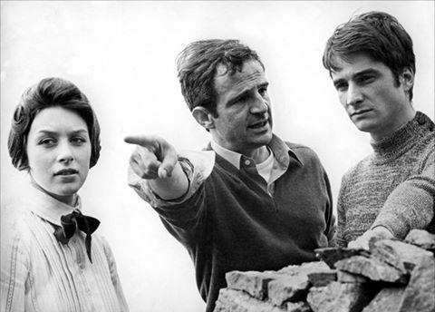 DETRÁS DE LAS CÁMARAS: Stacey Tendeter, el director François Truffaut y Jean-Pierre Léaud en el set de 'Las dos inglesas y el amor' (Les deux Anglaises et le continent, 1971).