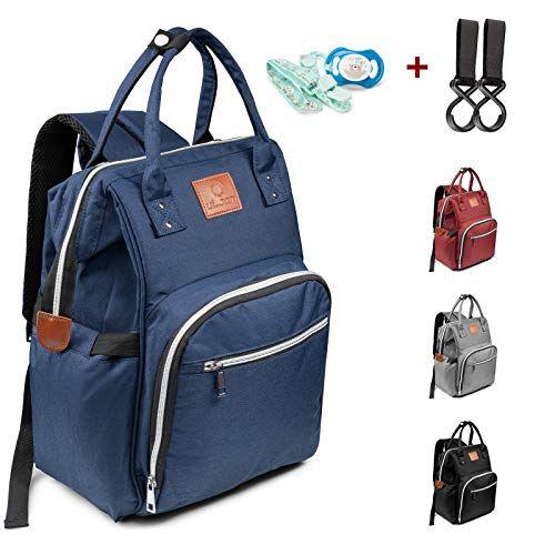 Kinderwagen-haken Tasche Rucksack mit 3 Baby Wickeltasche Wickelrucksack