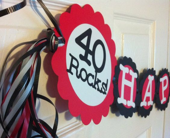 40th birthday markers and 40 rocks on pinterest for 40th birthday decoration ideas