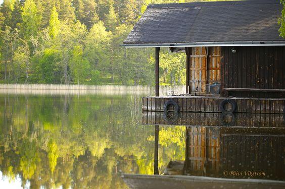 Fotografia Green reflection on the lake de Päivi Vikström na 500px