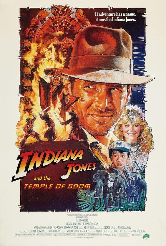 """Indiana Jones and the Temple of Doom"" (1984). COUNTRY: United States. DIRECTOR: Steven Spielberg. CAST: Harrison Ford, Kate Capshaw, Jonathan Ke Quan, Amrish Puri, Roshan Seth, Roy Chiao, Philip Stone, Raj Singh, David Yip, Ric Young, Dan Aykroyd"