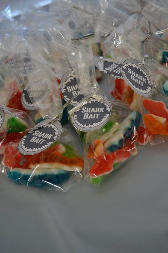 Shark birthday party favors
