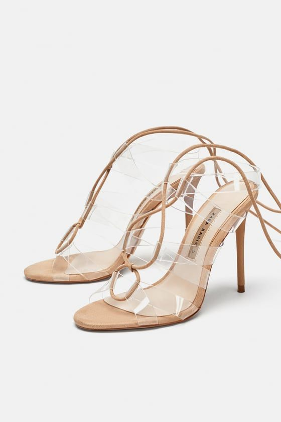 Vinyl High Heel Sandals With Ties Pshlotakoyna Pedila Pshla Takoynia