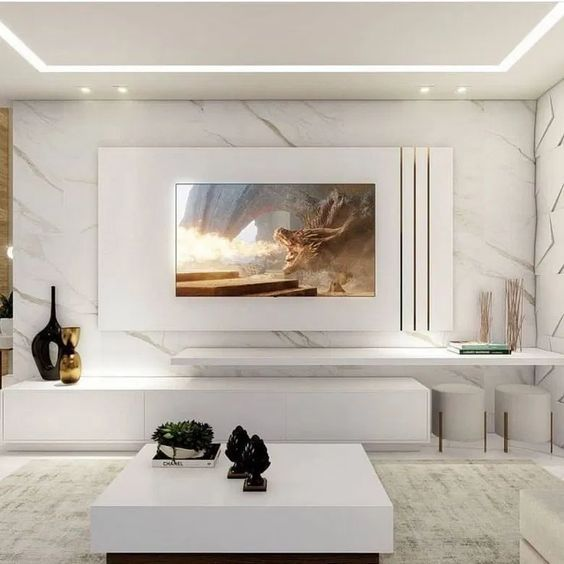 48 Simple Small Apartment Bathroom Remodel Ideas Living Room Design Modern Luxury Living Room Design Living Room Tv Wall