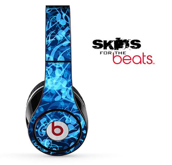 Blue Music Note Skin for the Beats by Dre Studio by TheSkinDudes, $19.99