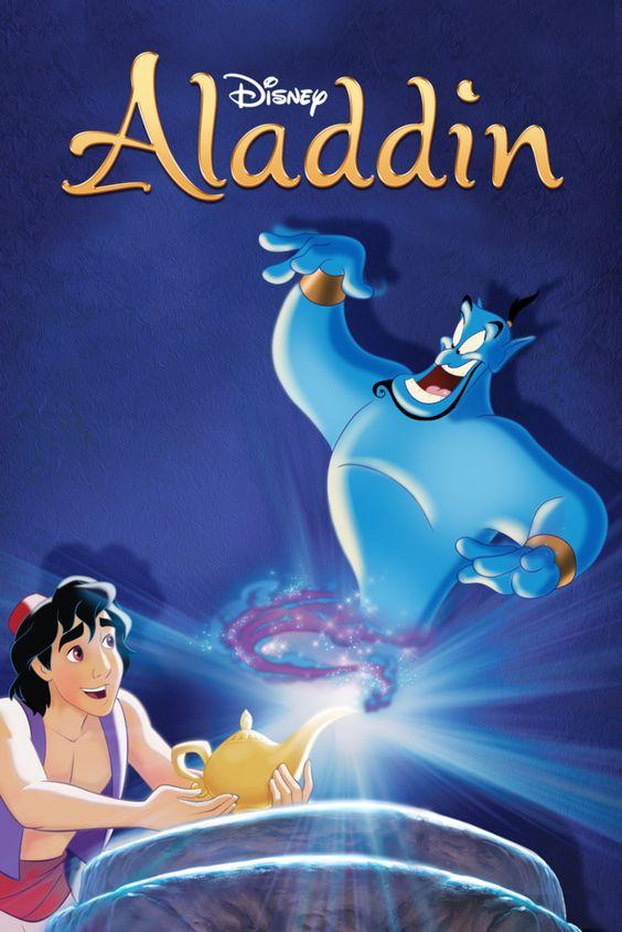 Aladdin Movie Poster - Scott Weinger, Robin Williams, Linda Larkin  #Aladdin, #MoviePoster, #KidsFamily, #RonClementsJohnMusker, #LindaLarkin, #RobinWilliams, #ScottWeinger