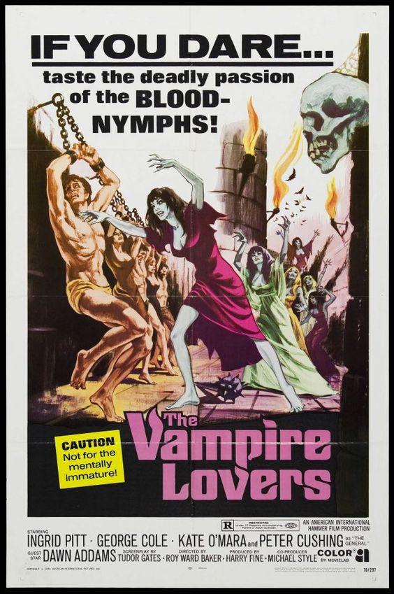 'The Vampire Lovers' 1970 Hammer films lesbo-vamp fest with the legendary Ingrid Pitt.