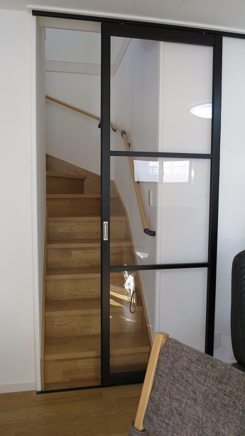 リビングイン階段に引き戸の取り付け リビングイン階段 リビング