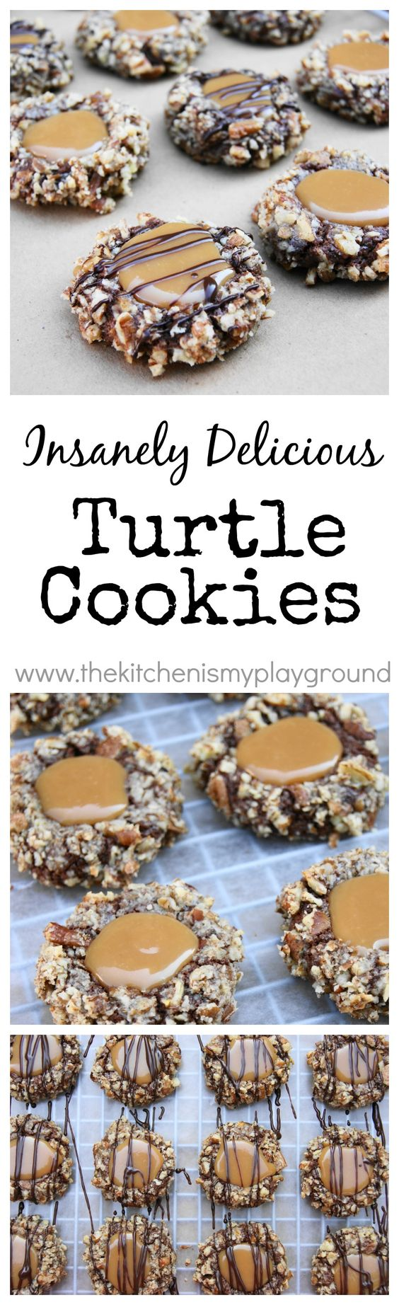 ... Delicious Turtle Cookies | Turtles candy, Homemade caramels and Pecans