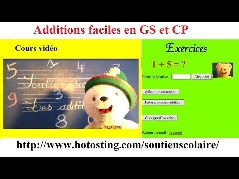 Soutien scolaire maternelle maths en ligne : additions faciles - YouTube