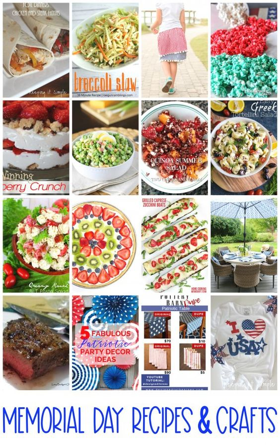 Memorial Day Recipes Crafts and Block Party