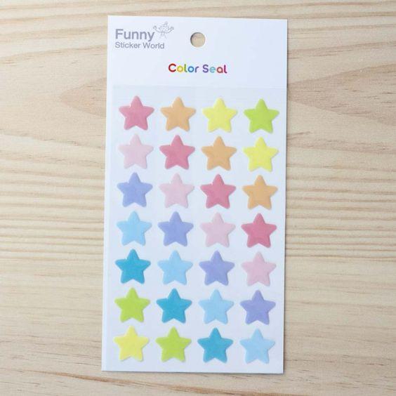 "Stickers ""Pastel Stars"" (15 ud)"