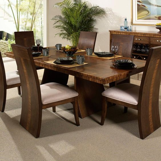 Have to have it. Somerton Dwelling Milan Double Pedestal Dining Table  Possible formal option