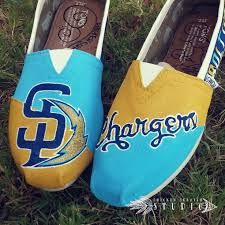 CUSTOM PAINTED TOMS SHOES - SAN DIEGO CHARGERS
