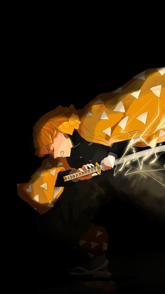 Zenitsu Demon Slayer Aka Kimetsu No Yaiba Animation Art Anime Art