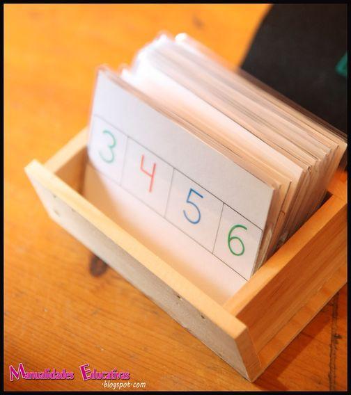 Tarjetas Autocorrectivas Valor Posicional Montessori | Manualidades Educativas | Bloglovin