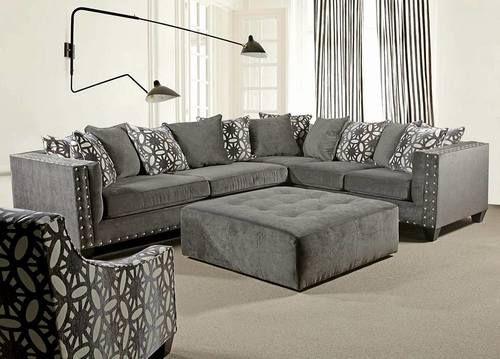 700 Pewter Roxanne Sectional Furniture Nebraska Furniture Mart Sectional