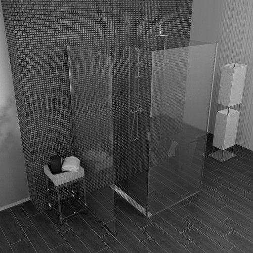 Dusche Glaswand 4 Teilige Walk In Dusche 3 Feste 1 Bewegliche