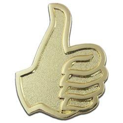Thumbs Up Lapel Pin