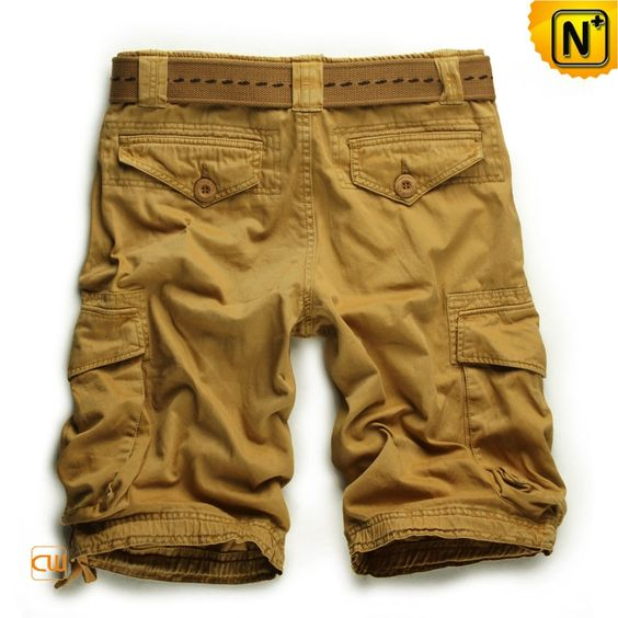 Mens 100% Cotton Khaki Cargo Shorts CW140061 Our stylish casual ...