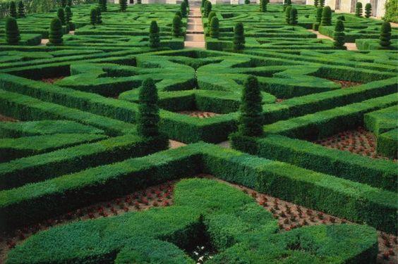 Gartenanlage von Schloss Villandry