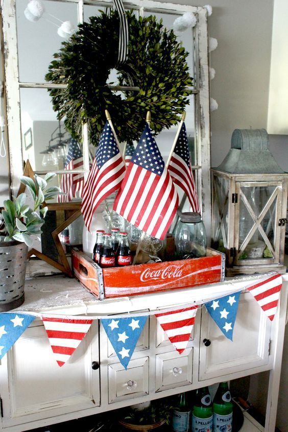 A Farmhouse 4th Of July One Thousand Oaks 4th Of July Decorations Fourth Of July Decorations Patriotic Decorations
