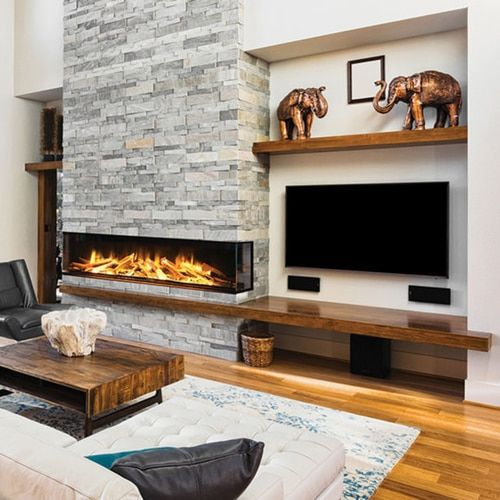 E72 3 Sided Electric Fireplace Modern Fireplace Ideas Living Rooms Fireplace Feature Wall Home Fireplace Living room ideas electric fireplace