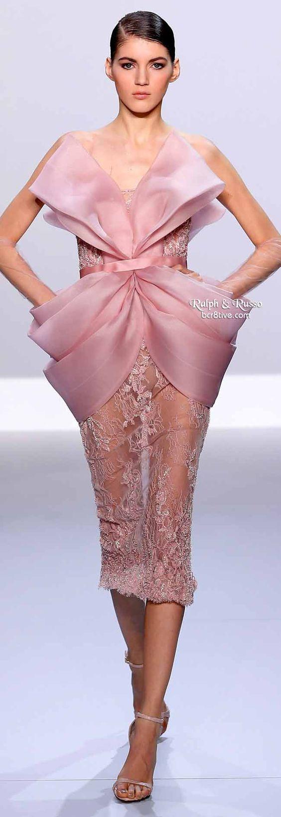 Ralph & Russo Spring 2014 Haute Couture. Chic vue de devant <3: