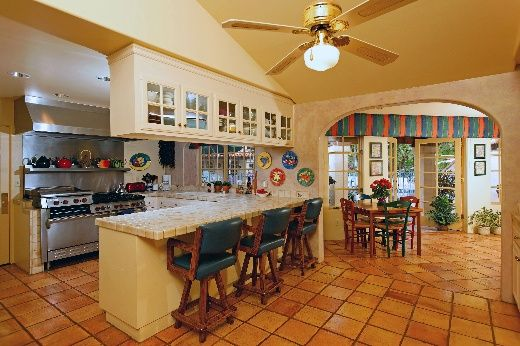 Spanish nice and home on pinterest for Spanish hacienda style kitchens