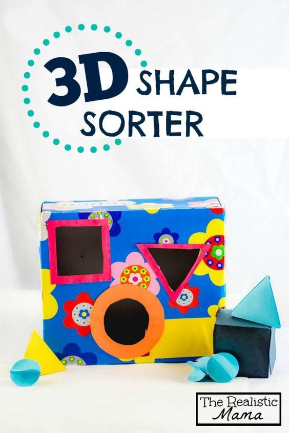 Homemade 3d Shape Sorter Homemade 3d Shapes And Preschool