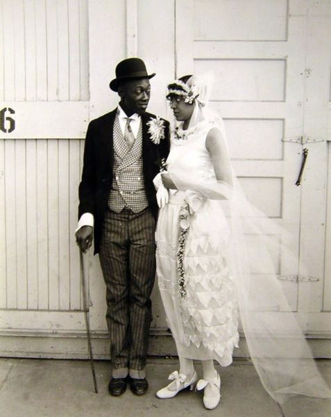 Just Married __ and Adorable!   ( Fashion says -- probably late 1920s to early 1940s - maybe)