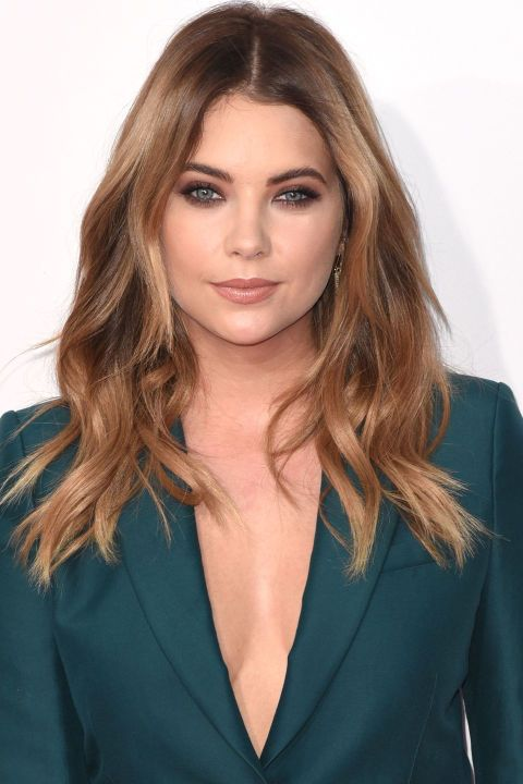 The 10 best hair colors and highlights for winter 2015: Ashley Benson's caramel bronde: