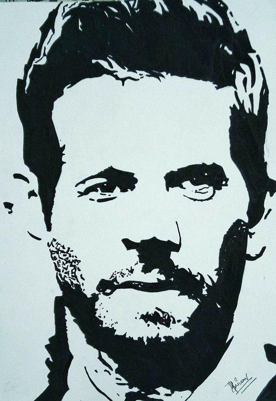 Sketch of Paul Walker