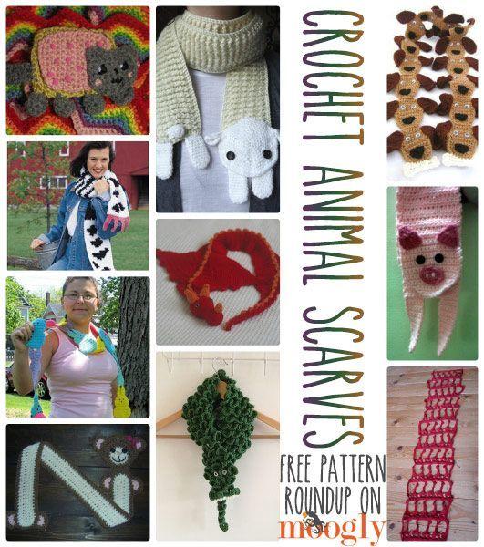 10 Free Crochet Animal Scarf Patterns! | Craft ideas | Pinterest ...